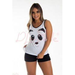 Short Doll Regata Panda Adulto (0270615)