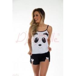 Short Doll Alcinha Panda Adulto (0270678)