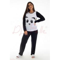Pijama Panda Manga Longa Infantil (0270619)